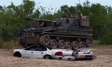 You can now crush cars in a f*cking tank at this Florida theme park