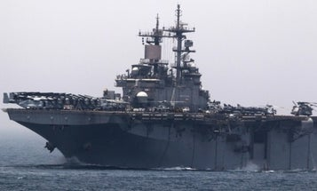 USS Boxer shoots down Iranian drone as the US and Iran edge closer to conflict