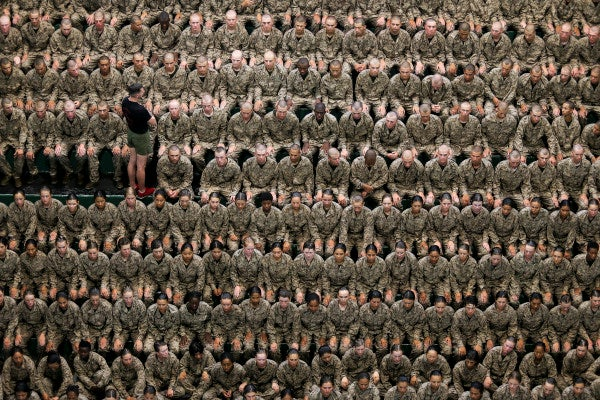 The Marine Corps doesn't care if this image upsets you