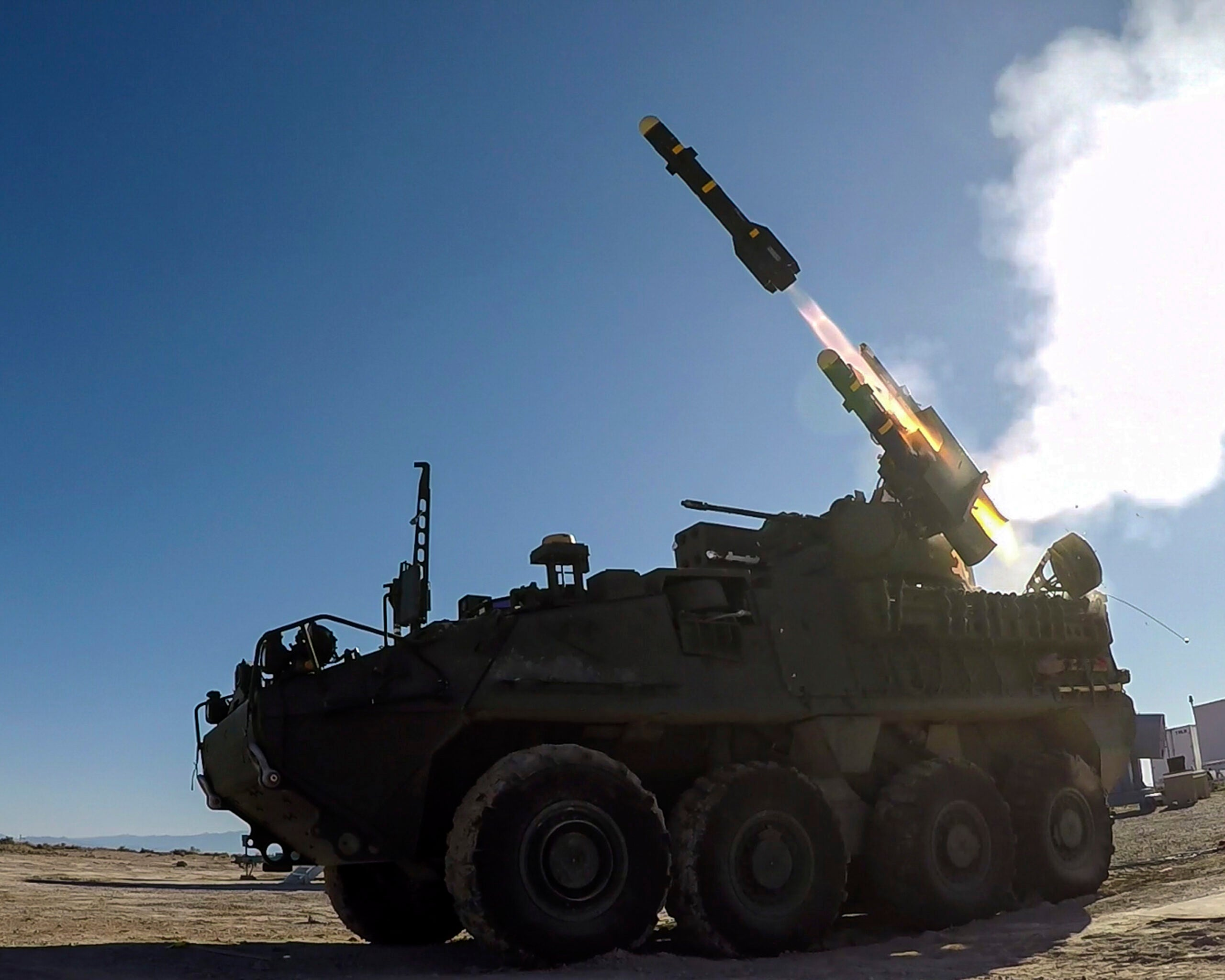 Watch the Army's new missile-hauling Stryker in action