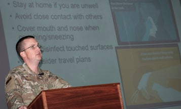 Some military units think the best way to fight coronavirus is crowded all-hands meetings on social distancing