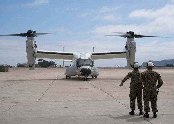 The Navy's new Osprey is officially here to drop you off at sea