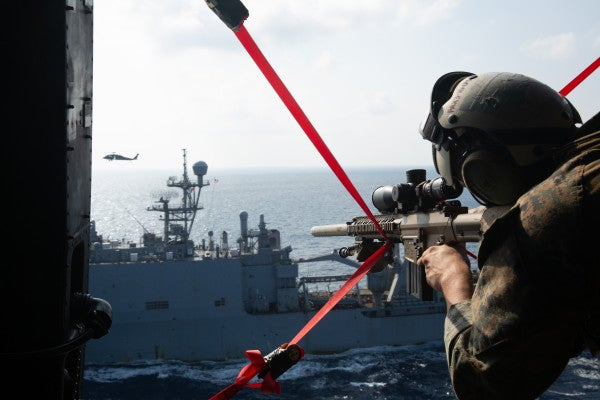 Marines simulated a takedown of a hostile ship in the South China Sea in a 'flex' at China