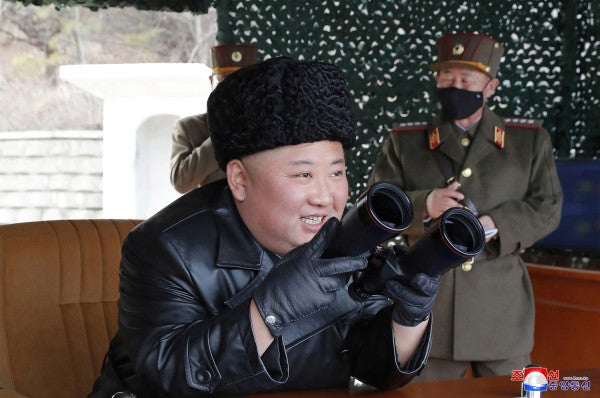 North Korea test-fires three short-range missiles into the sea