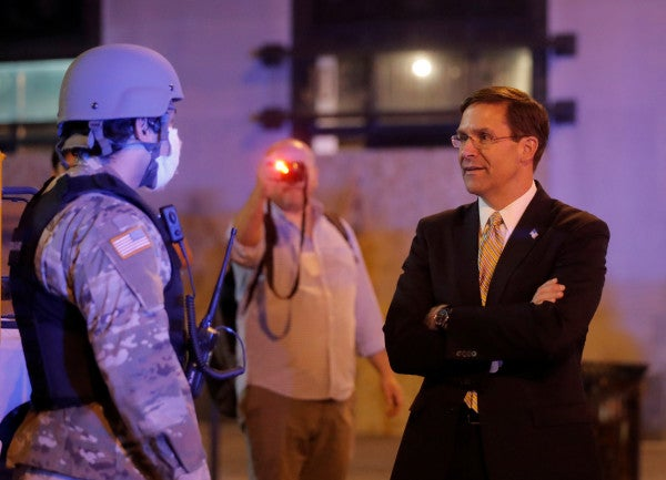 SecDef Esper orders review of National Guard's response to protests