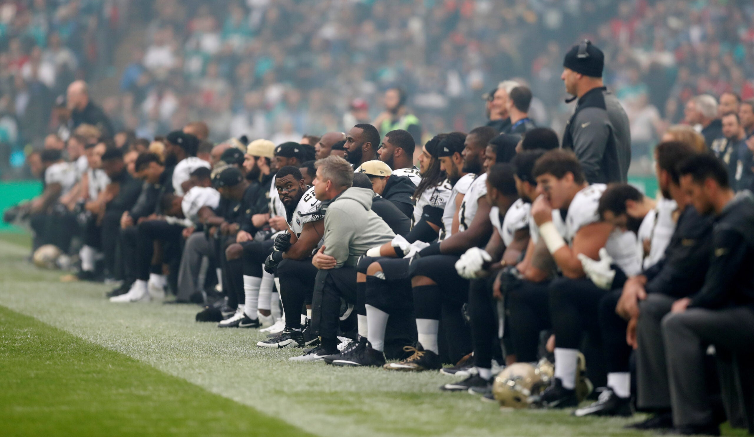 Trump says he 'won't be watching' NFL and US soccer if players kneel during national anthem