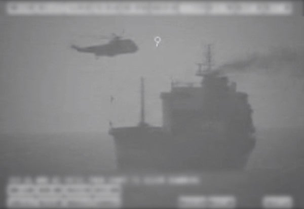 US military accuses Iranian forces of fast-roping onto civilian ship in Persian Gulf