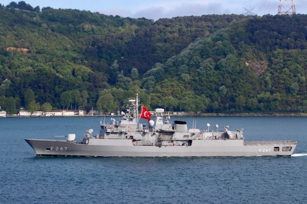 Greek and Turkish warships involved in 'mini collision' amid tensions in the Mediterranean