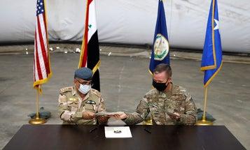 US-led troops withdraw from Iraq's Taji base