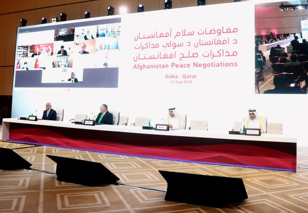 Historic peace talks open between Taliban and Afghan government