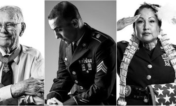 'In every uniform is a human being' — an Air Force vet is on a mission to take portraits of 7,500 veterans in all 50 states