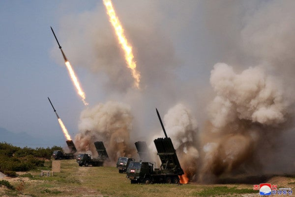 North Korea fires multiple unidentified projectiles