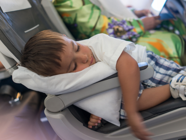 7 airplane travel hacks with kids