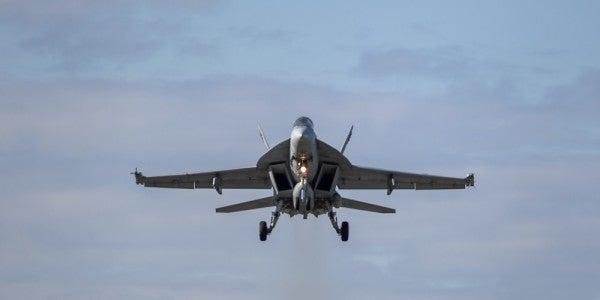 Navy F/A-18E Super Hornet crashes in California. Pilot's status unknown