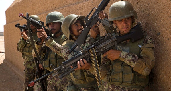 Afghanistan's security forces lost 42,000 troops in the last year in a crackdown on 'ghost soldiers'