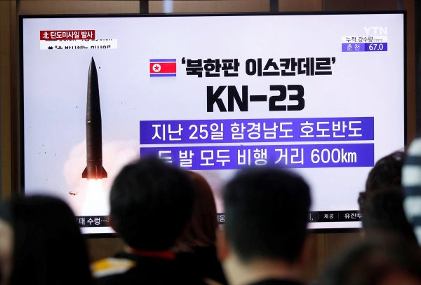 North Korea conducts its third projectile launch in a week