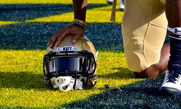 Navy football has dropped its team motto because it's 'insensitive' to mass shooting victims