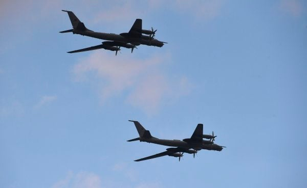 Two Russian spy planes flew just off the Alaskan coast last week