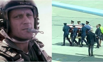 The son of a fighter pilot killed in the Vietnam War flew his father's remains home after more than 50 years