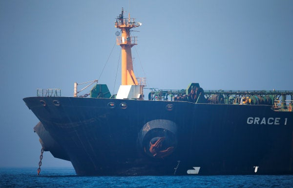The Iranian oil tanker seized by British Royal Marines is being released