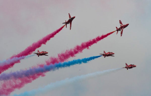 The RAF's Red Arrows are coming to New York to show off over the Hudson River