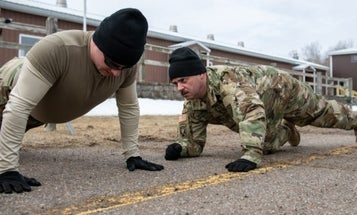No, an Army captain did not forbid his soldiers from having mustaches to raise APFT scores