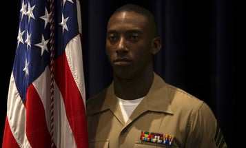 Color Sergeant of the Marine Corps warned after burning troops with a lighter
