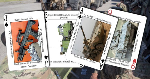 The Army is making playing cards to help soldiers identify Iranian and Russian weapons systems