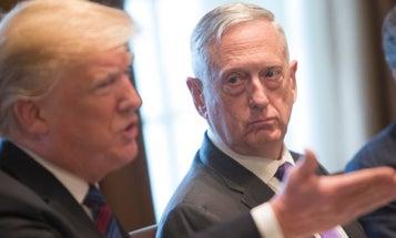 Mattis wags his knife hand at toxic leadership in Washington with a veiled jab at Trump