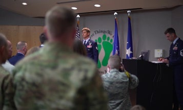 Air Force PJ receives Bronze Star for fighting off Taliban for hours while twice wounded