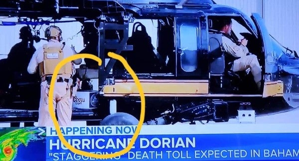No, US service members aren't hauling beer as part of their Hurricane Dorian relief mission