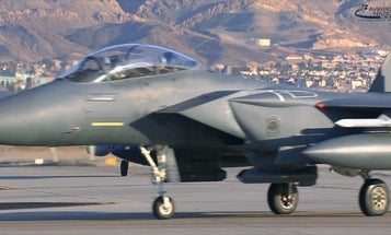 US F-15s nearly took out a pair of parachutists over southern England