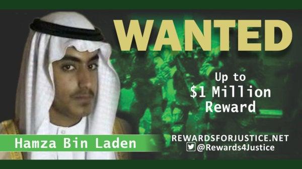 Osama bin Laden's son Hamza is dead, White House says