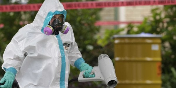 A gas explosion ripped through a Russian lab that stores smallpox, anthrax, and Ebola