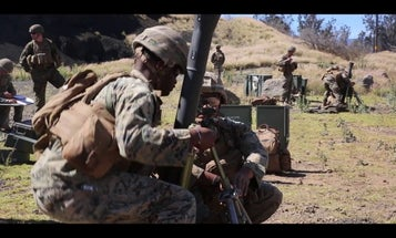 Marines are testing a non-lethal mortar round for crowd control