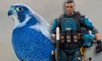This Blue Falcon action figure may tell your C.O. you're not actually at dental