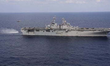 China has launched its first amphibious assault ship