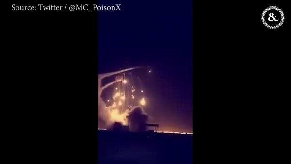 VIDEO: A Patriot missile intercepts incoming rockets over Riyadh, Saudi Arabia in March 2018