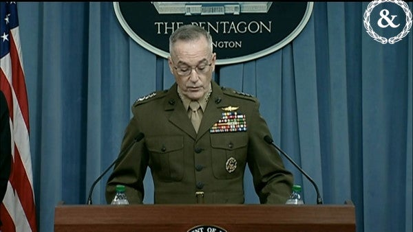 Trump says Marine Gen. Joseph Dunford helped him to decide to run for president