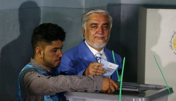 Both rivals in Afghanistan's presidential election claim victory in a repeat of 2014