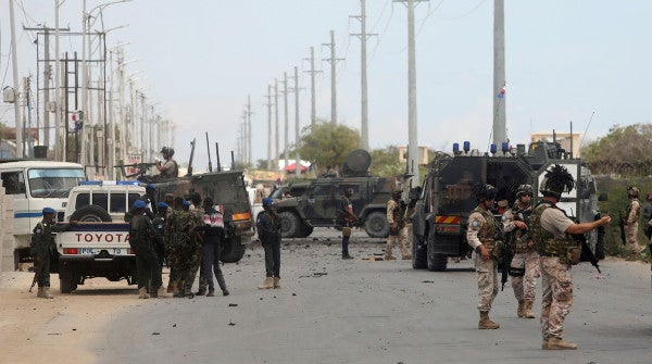 How Somali commandos and a US airstrike repelled an insurgent attack on a major military base