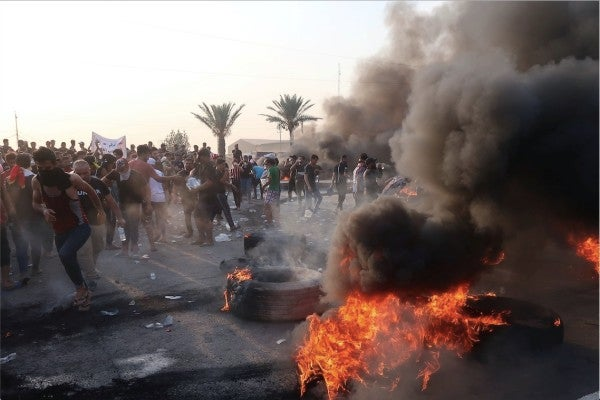 Blasts rock Baghdad's Green Zone as death toll from Iraq protests rises