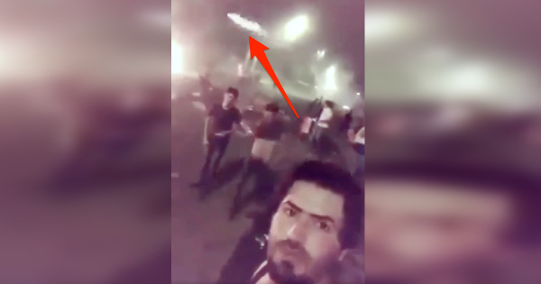 Video appears to show RPG flying past man's head as he documents Iraq's deadly protests
