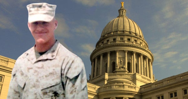 A Wisconsin Marine vet will receive a pardon 15 years after he broke a man's nose during a drunken argument