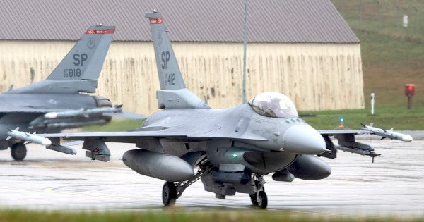 US Air Force F-16 crashes in Germany