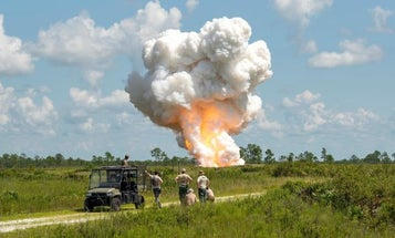 The Air Force blew up tons of explosives seized from a single Florida man