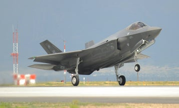 F-35 landing gear collapses on landing at Hill Air Force Base