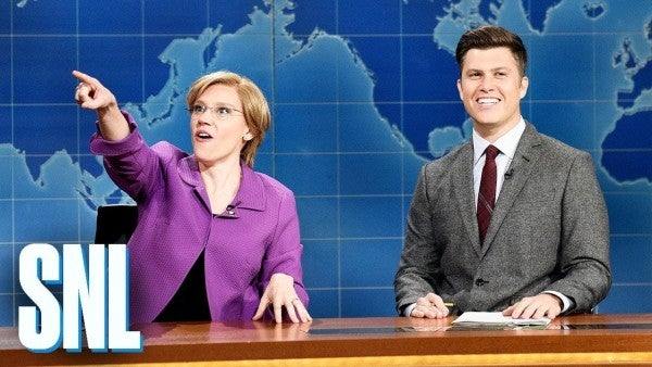 Watch SNL confront that ridiculous rumor about Elizabeth Warren and the young Marine in the best way
