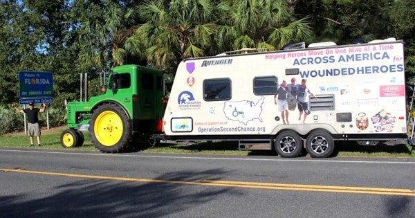 We salute the Florida man who drove his 1948 John Deere tractor across the country to support veterans