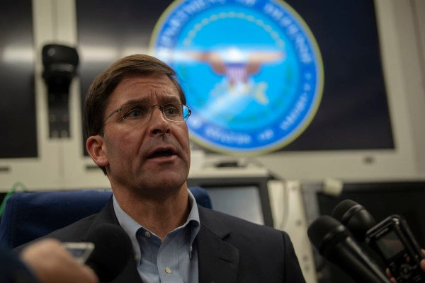Pentagon 'will do everything we can' to honor impeachment subpoena, Esper says